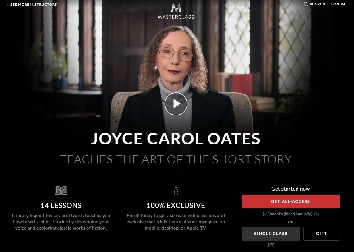 MasterClass-Joyce-Carol-Oates-Story-Writing-Lesson-Review